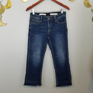 Pilcro and the Letterpress Script Cropped Jeans